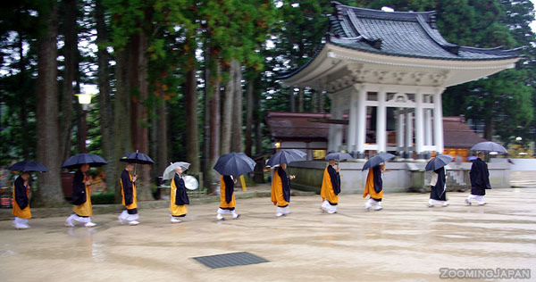 mount koya monks