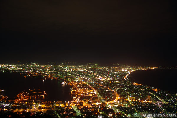 Spring in Japan: Night view from Mt. Hakodate, Hokkaido