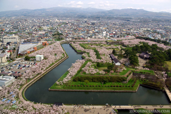 Spring in Japan: Fort Goryokaku, Hakodate