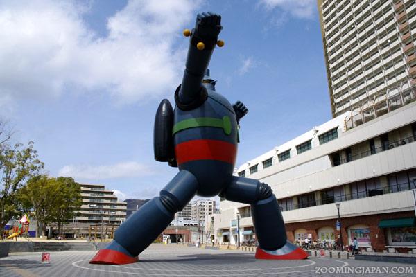 Tetsujin 28 statue near Shin-Nagata Station, Nagata, Kobe