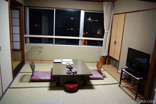 My hotel room in Hirado