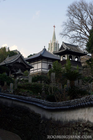 Temple and church together in Hirado