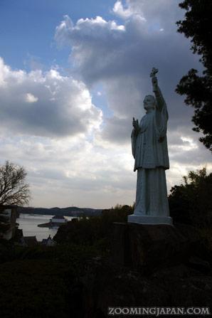 Statue of Francis Xavier in Hirado, Nagasaki