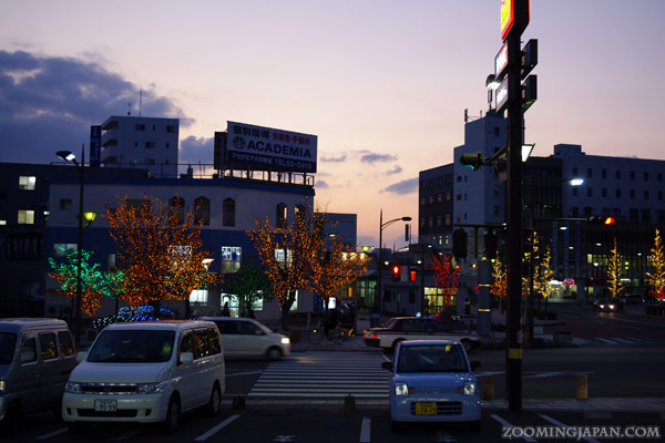 In front of JR Omura Station, Omura City, Nagasaki Prefecture