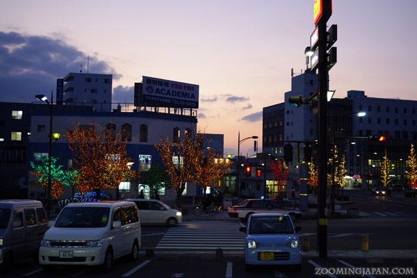 In front of JR Omura Station, Omura City, Nagasaki Prefecture