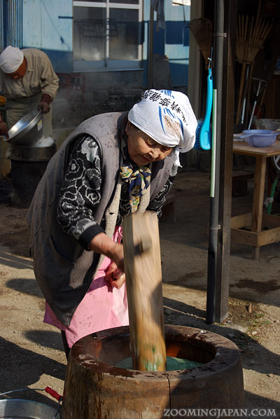 Mochitsuki, making mochi for Japanese New Year's Eve Omisoka