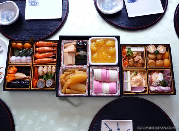 Osechi Ryori, typical Japanese New Year's Day shogatsu food