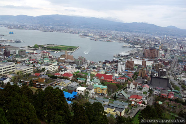 View from Mount Hakodate