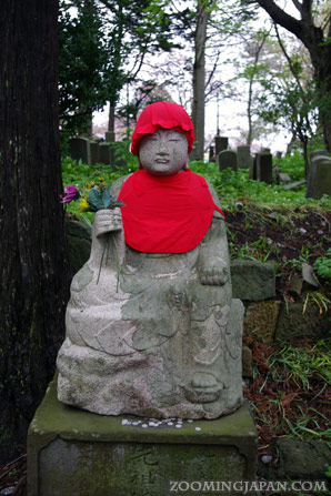 Stone statue near Matsumae Castle