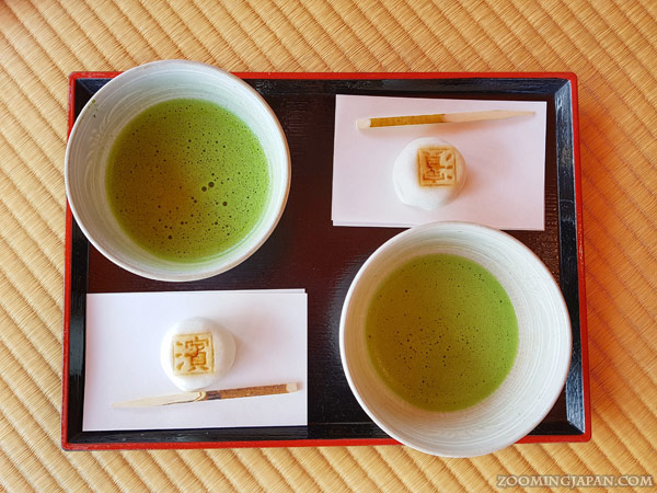 matcha and wagashi