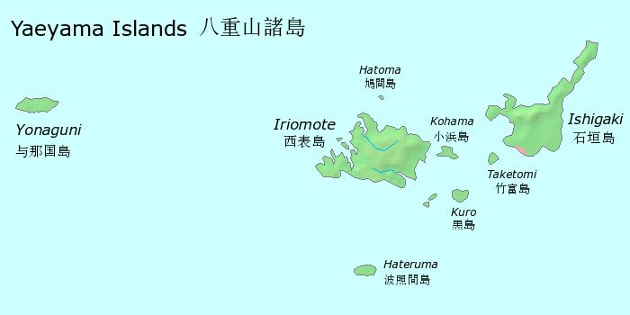 Yaeyama Islands Japan Map