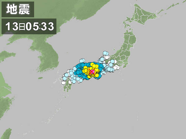 Magnitude 6 Earthquake in Western Japan April 2013