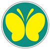 driving in japan butterfly mark japanese car stickers