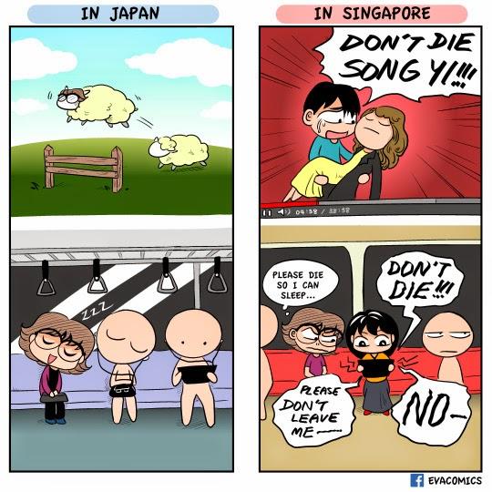 Evacomics: Funny comics about Japan