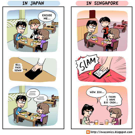 Evacomics Funny Comparison Of Japan Singapore And The U S