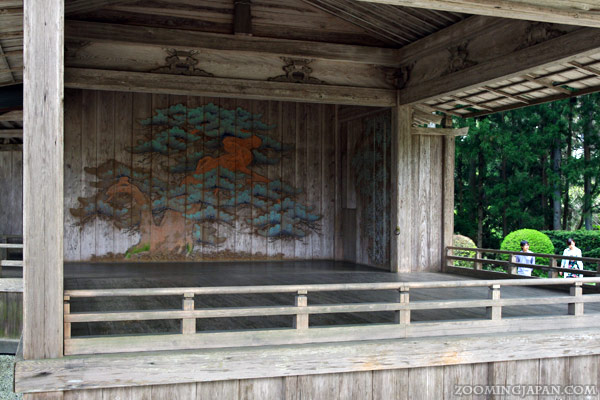 Chusonji Temple in Hiraizumi, Noh Stage