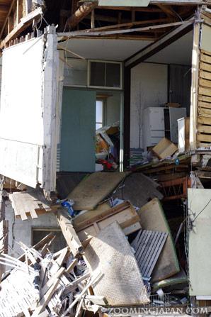 Damage by the Ishinomaki tsunami and earthquake Japan March 2011
