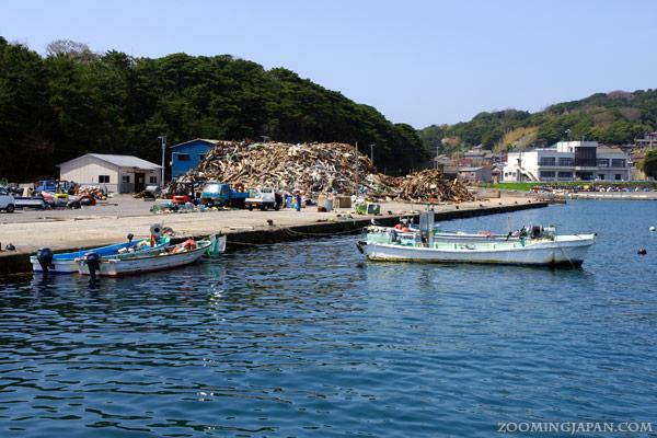 Nitoda Port, Tashirojima, Cat Island, damage through tsunami 2011