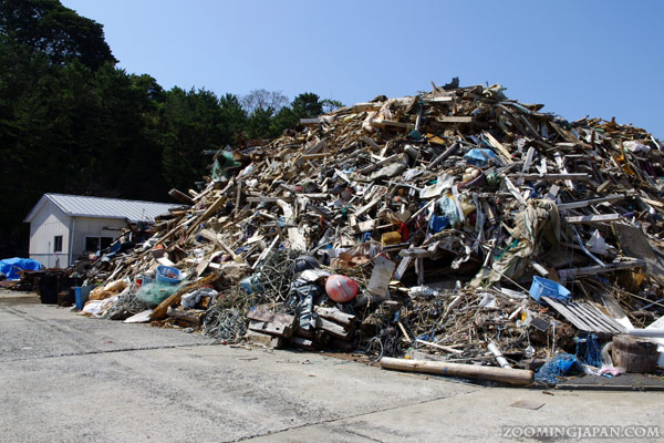 Nitoda Port, Tashirojima, Cat Island, damage through tsunami 2011