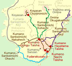 Kumano Kodo Pilgrimage Trails Map