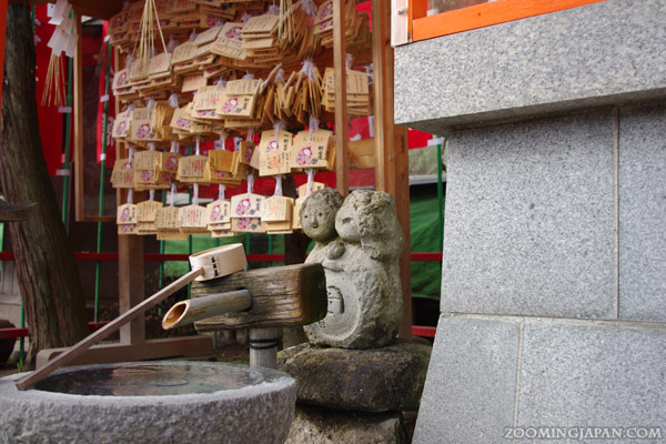 Ema, wooden wishing plaques of a shrine
