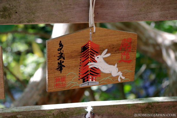 Ema, wooden wishing plaque of Tanzan Shrine in Nara