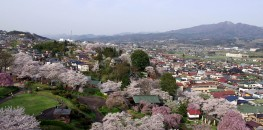 View from the top of Kaminoyama Castle