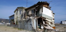 This house in Ishinomaki was destroyed by the tsunami in March 2011.
